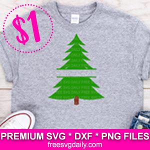 Christmas Tree Monogram SVG File