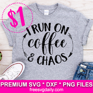 Coffee Chaos Free SVG