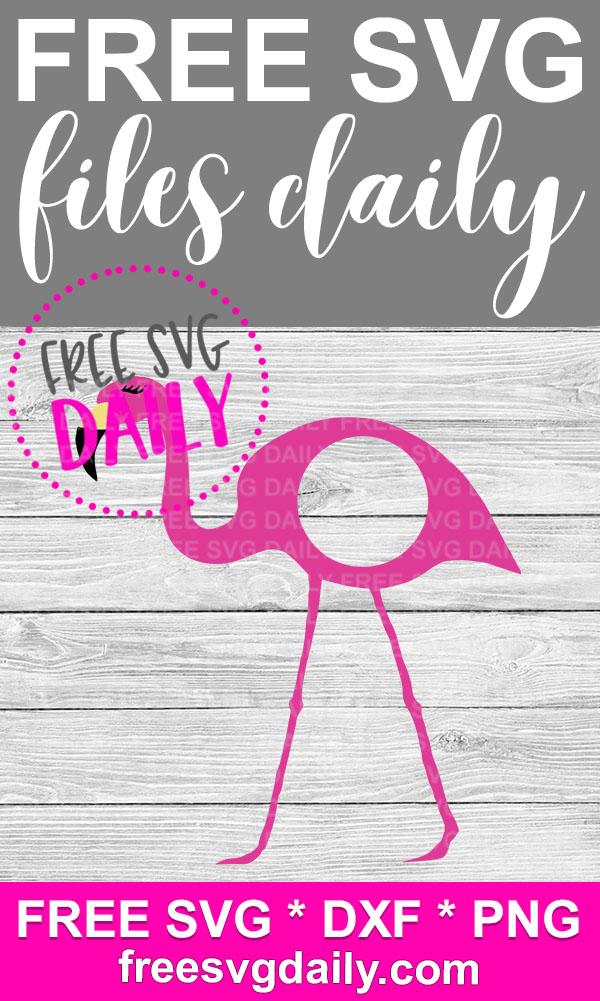 Flamingo Mongram Free SVG