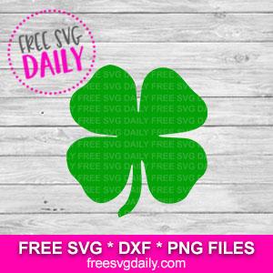 Four Leaf Clover Free SVG