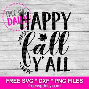 Happy Fall Y'all SVG Free