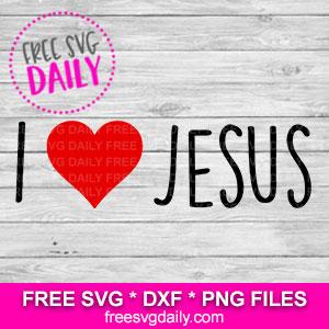 I Love Jesus SVG