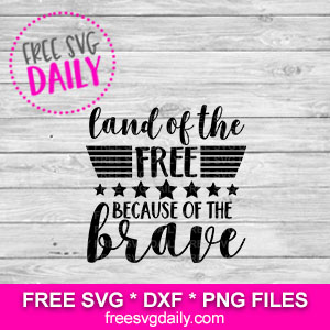 Free Land Of The Free Because Of The Brave SVG