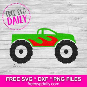 Monster Truck SVG Free