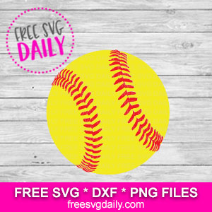 Softball Free SVG