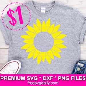 Sunflower Monogram SVG