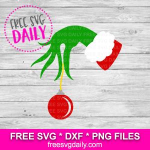 free grinch hand svg