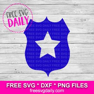 Police Badge SVG Free